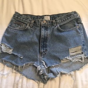 Vintage high-rise Calvin Klein Jean shorts